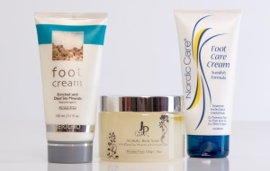 Foot Creams & Scrubs hydrate and polish.
